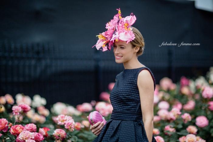 2015 Myer Fashions on the Field Women's Racewear winner Emily Hunter © fabulous-femme.com